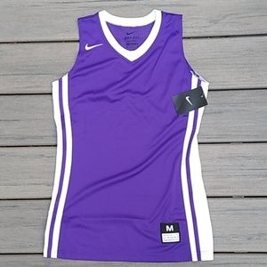Youth Purple and White Basketball Jersey